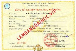 lam bang cap 3 thpt